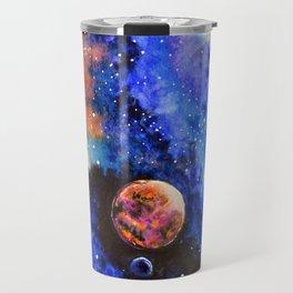 Galaxy landscape Travel Mug