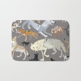 Wolves of the world 1 Bath Mat