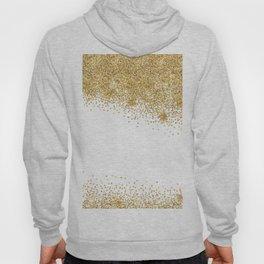 Sparkling golden glitter confetti effect Hoody