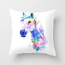Horse Watercolor, Horse Print, Watercolor Print, Watercolor Animal, Horse Painting, Horse Gift Print Throw Pillow