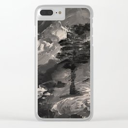 The Last Tree - black and white Clear iPhone Case
