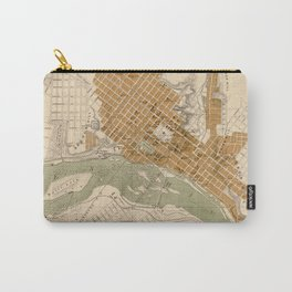 Vintage Map of Richmond VA (1864) Carry-All Pouch
