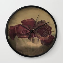 The veins of Roses Wall Clock