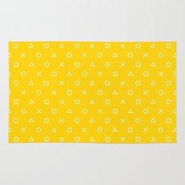 Yellow Gamer Pattern Rug