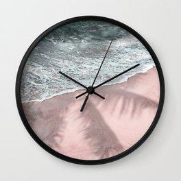 Pink Paradise Beach Wall Clock