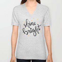 shine bright Unisex V-Neck