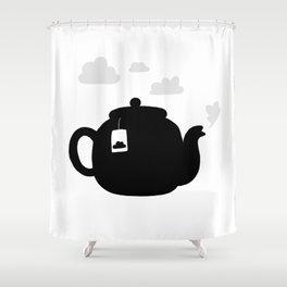 Cloudy pot Shower Curtain