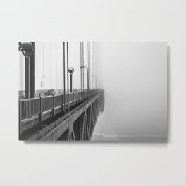Golden Gate Bridge Vintage Metal Print