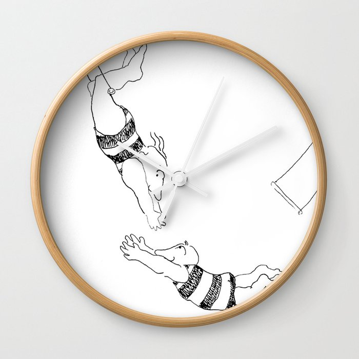 Text Me When You Land Wall Clock