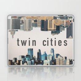 Twin Cities Minneapolis and Saint Paul Minnesota Skylines Laptop & iPad Skin
