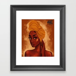 U R my african queen Framed Art Print