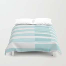 Big Stripes In Turquoise Duvet Cover