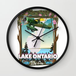 Lake Ontario North American flight poster Wall Clock