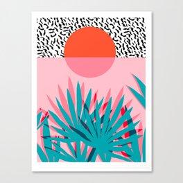 Whoa - palm sunrise southwest california palm beach sun city los angeles retro palm springs resort  Canvas Print