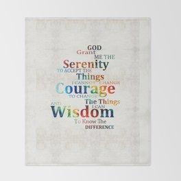 Colorful Serenity Prayer by Sharon Cummings Throw Blanket