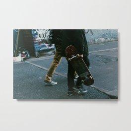 Skaters in Waterloo, London Metal Print