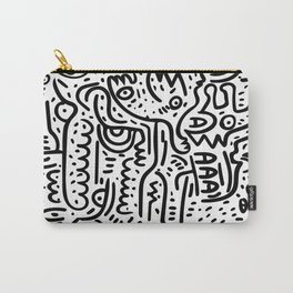 Street Art Graffiti Love Black and White Carry-All Pouch