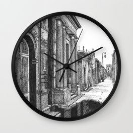 "Grave Streets ""VACANCY zine"" Wall Clock"