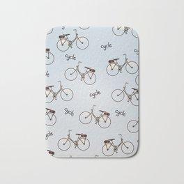 cycle biking poster pattern. Bath Mat