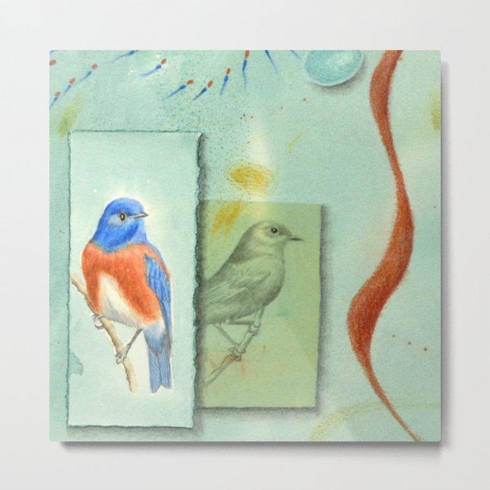 Talisman for Western Bluebirds Metal Print