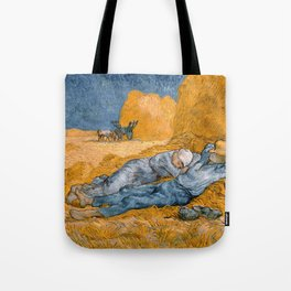 Noon - rest from work by Vincent van Gogh Tote Bag