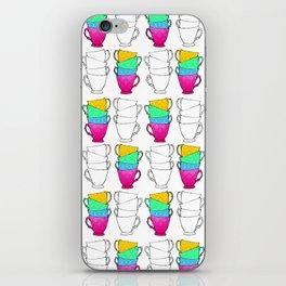 Tea Cup Pattern iPhone Skin