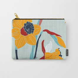 Mid Century spring flowers Carry-All Pouch