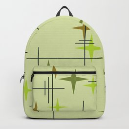 Mid Century Modern Stars Chartreuse Backpack