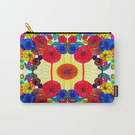 Garden Party - Illustrated flowers and leaves Carry-All Pouch