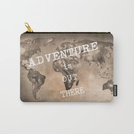 Adventure is out there. Stars world map. Sepia Carry-All Pouch