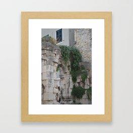 Split, Croatia - Stone and Vines Framed Art Print