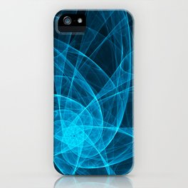 Tulles Star Computer Art in Blue iPhone Case