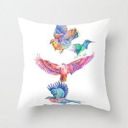 birds in color Throw Pillow