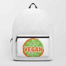 Go Vegan, green and orange, circle Backpack