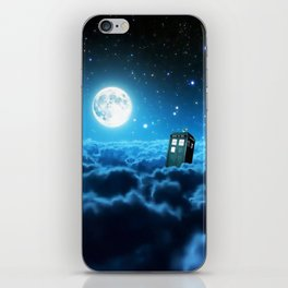 Tardis Cloud And Moon iPhone Skin