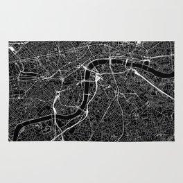 London Black Map Rug