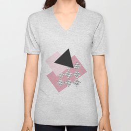 Pink - Abstract Unisex V-Neck