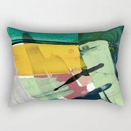 Hopeful[3] - a bright mixed media abstract piece Rectangular Pillow