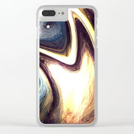 returning to the cosmos | Abstract Painting Clear iPhone Case