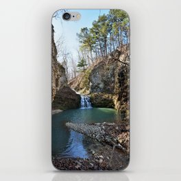 Alone in Secret Hollow with the Caves, Cascades, and Critters - Approaching the Falls, 2 of 2 iPhone Skin