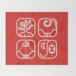 Mayan Glyphs ~ Nature Throw Blanket