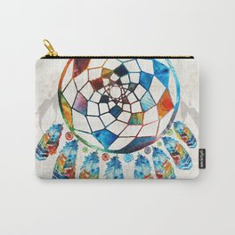 Native American Colorful Dream Catcher by Sharon Cummings Carry-All Pouch