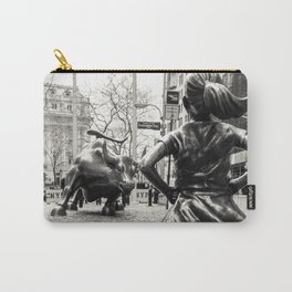 Fearless Girl & Bull - NYC Carry-All Pouch