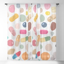 Sunny Pills Sheer Curtain