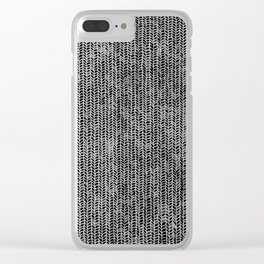 Stockinette Black Clear iPhone Case