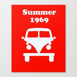 Summer 1969 - red Canvas Print