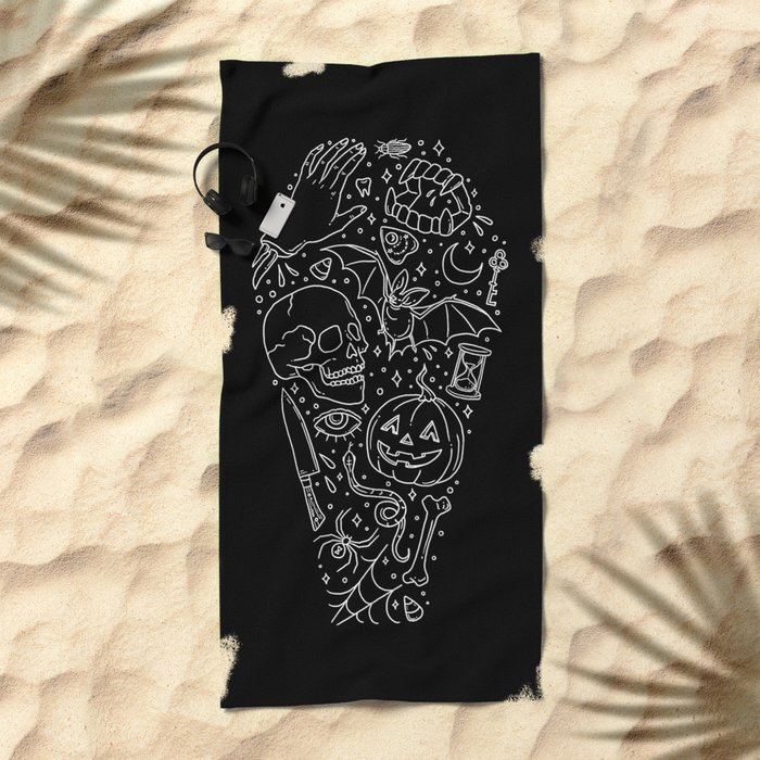 Halloween Horrors Beach Towel