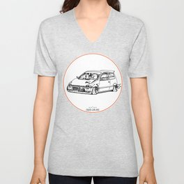 Crazy Car Art 0211 Unisex V-Neck
