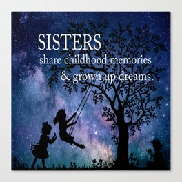 Sisters Quote Canvas Print