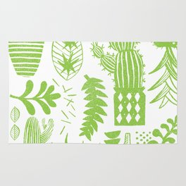Cactii Textured Print Pattern Rug